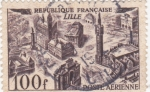 Stamps France -  panorámica de Lille