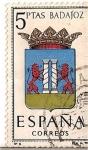 Stamps Spain -  Correos España / Badajoz / 5 pecetas