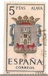 Stamps Spain -  Correos España / Alava / 5 pecetas