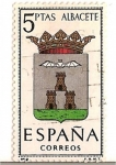 Stamps Spain -  Correos España / Albacete / 5 pecetas
