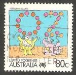 Sellos de Oceania - Australia -  1061 - Arte