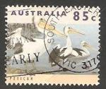 Stamps Australia -  1355 - Pelícanos