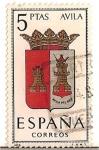 Stamps Spain -  Correos España / Avila / 5 pecetas