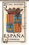 Stamps Spain -  Correos España / Valeares / 5 pecetas