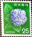 Stamps Japan -  Intercambio 0,20 usd 25 yen 1972