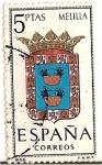 Sellos de Europa - España -  Correos España / Melilla / 5 pecetas