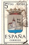 Stamps Spain -  Correos España / Vizcaya / 5 pecetas / Escudos