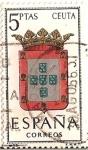 Stamps Spain -  Correos España / Ceuta / 5 pecetas / Escudos