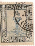 Stamps Africa - Libya -  Colonie Italiane / Poste Libia / 25 cent.