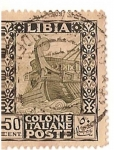 Stamps Africa - Libya -  Libia colonie Italiane poste / 50 cent