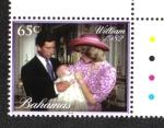 Stamps Bahamas -  El Bautizo del Principe Jorge