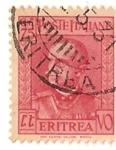 Stamps Africa - Eritrea -  Poste italiane / Colonias italianas / 75 cent / Eritrea