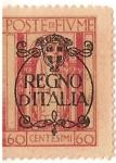 Sellos de Europa - Italia -  regno di italia / poste di fiume / 60 cent