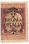 Stamps Italy -  poste de fiume / colonia italiana / regno di italia