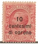 Stamps of the world : Italy :  poste italiane / 10 centesimi di corona / Colonias italianas