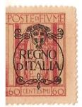 Stamps Italy -  poste di Fiume / regno di italia / 60 cent