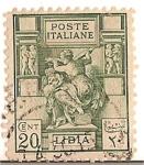 Stamps Africa - Libya -  poste italiane / Libia / colonia italiana