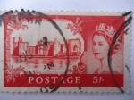 Stamps United Kingdom -  Castillo Caernarfon- Gales- Costruñido por Eduardo I de Inglaterra 2n 1277.