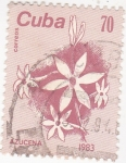 Stamps Cuba -  flora- azucena