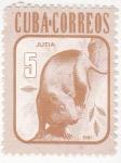 Sellos de America - Cuba -  marsupial- jutia