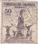 Sellos de America - Colombia -  monumento a Bolivar puente de Boyaca