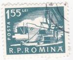 Sellos de Europa - Rumania -  carguero
