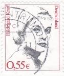 Sellos del Mundo : Europa : Alemania : Hildegard-Knef -actriz,cantante, escritora