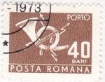 Stamps Romania -  corneta de correos