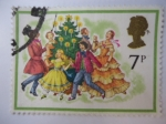 Stamps United Kingdom -  Navidad. La Novena de Aguinaldos.
