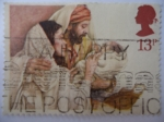 Stamps United Kingdom -  Navidad - La Sagrada Familia