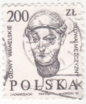 Sellos de Europa - Polonia -  Glowy Wawelskie- cabezales esculturas