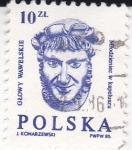 Stamps : Europe : Poland :  Glowy Wawelskie- cabezales esculturas