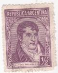 Sellos de America - Argentina -  Manuel Belgramo- militar