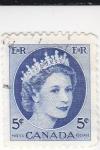Sellos de America - Canadá -  reina Isabel II