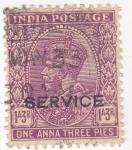 Stamps India -  rey George V (SERVICE)