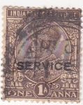 Stamps : Asia : India :  rey George VI (SERVICE)