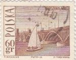 Sellos de Europa - Polonia -  puente sobre el río Vístula