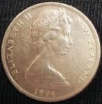 monedas de Oceania - Nueva Zelanda -  1974 (Anverso)