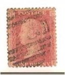 Stamps Europe - United Kingdom -  One penny red (1871) / Queen Victoria
