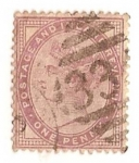 Stamps Europe - United Kingdom -  One Penny lila / Queen Victoria