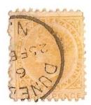 Sellos del Mundo : Europa : Reino_Unido : three penny amarillo / Reina Victoria
