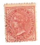 Stamps United Kingdom -  one penny / Queen Victoria