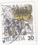 Stamps Switzerland -  carruaje