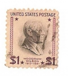Stamps America - United States -  united states postage / Woodrow Wilson