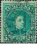 Stamps Spain -  Alfonso XIII. Tipo Cadete