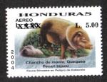 Sellos de America - Honduras -  Fauna Silvestre En Peligro de Extinción