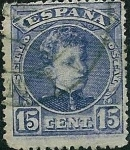 Stamps Europe - Spain -  Alfonso XIII. Tipo Cadete