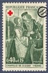 Sellos del Mundo : Europa : Francia : Frescos de la capilla del Castillo de Dissay (Vienne) Señores
