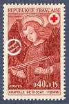 Sellos del Mundo : Europa : Francia : Frescos de la capilla del Castillo de Dissay (Vienne) El ángel con el azote