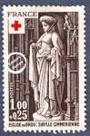Sellos de Europa - Francia -  Esculturas de la Iglesia de Brou, Sibila cimmerian